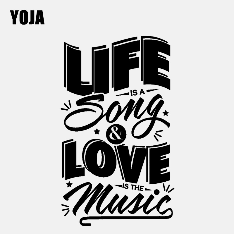 YOJA 42.7CM*71CM Home Decor Life is a Song Love is the Music Positive Quote PVC Wall Sticker W1-508 image