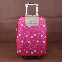 Men Polka dot password box women travel suitcase bags universal wheels trolley rolling Oxford cloth luggage bag maletas 20 24