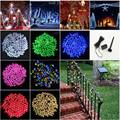 100 LED String Lights Solar Light Columnar Holiday Decoration Lamp Festival Christmas Lights Outdoor Lighting