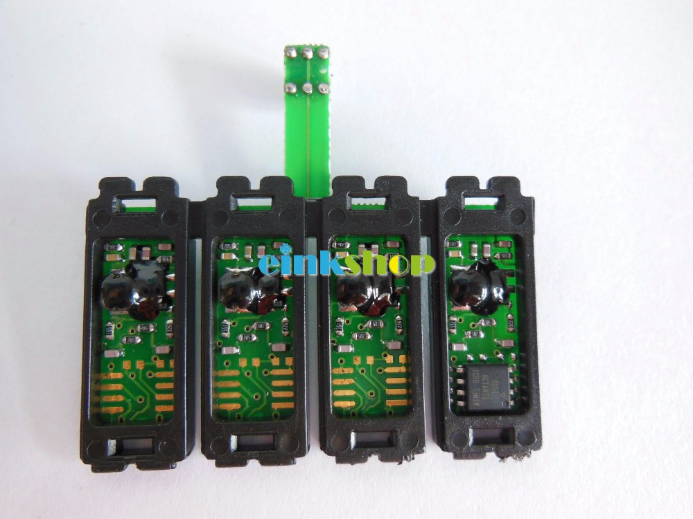 1set T1281-T1284 Reset CISS Combo Chip For Epson S22 SX125 SX420W SX425W SX235W SX130 SX435W SX230 SX440W BX305F BX305FW chip for lexmark computer peripheral supplies chip for lexmark c748 mfp chip reset refill resetterter chips free shipping