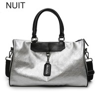 Brand Fashion PU Leather Handbag High Quality Crossbody Big Female For Women Silver Girl Messenger Hand Ladies Bags Tote Travel