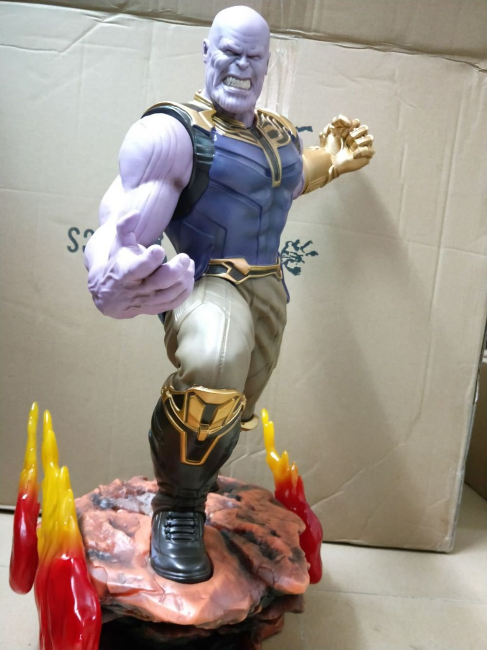 [Best] Super taille 1/4 echelle 60 cm les Avengers 3 Hulk Thanos figurine Action Statue Collection jouet enfants enfant adulte cadeau