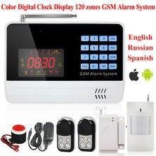 Новый Беспроводной Проводной Домашней Обеспеченностью GSM цветной экран Системы Охранной Сигнализации Дом Auto Dialer ПИР датчик двери Дистанционного управления