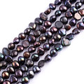 Free Shipping 5-7mm Natural Freeform Black Freshwater Pearl Gem Stone For DIY Necklace Bracelat Jewelry Making Spacer Beads 14""