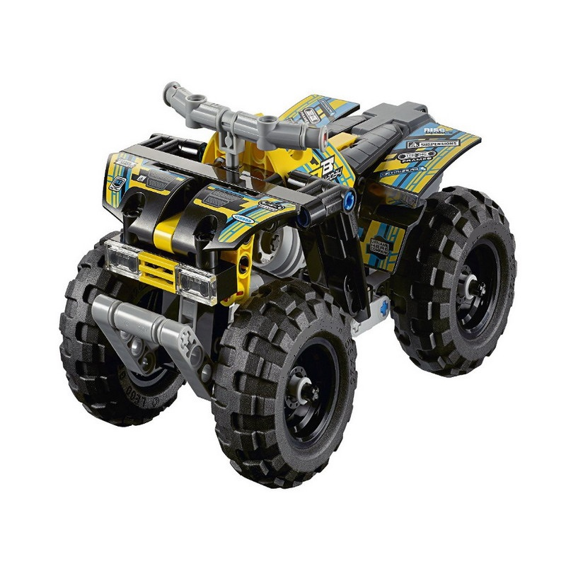 3416 DECOOL 148Pcs Technic Quad Bike Model Building Blocks Classic Enlighten DIY Figure Toys For Children Compatible Legoe 7112 decool batman chariot superheroes the batwing model building blocks enlighten diy figure toys for children compatible legoe