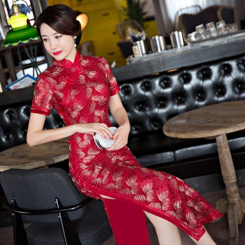 New 2017 font b Women s b font Lace Cheongsam font b Fashion b font Chinese