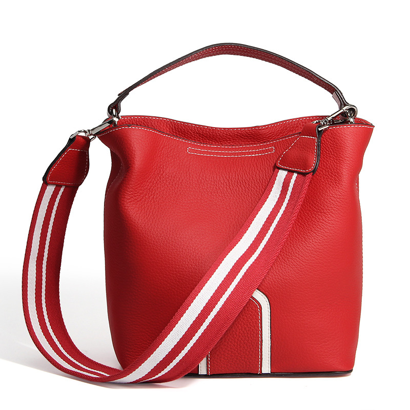 Nesitu High Quality Fashion Black Green Yellow Red Geunine Leather Cute Small Women Handbags Woman Shoulder bags Tote #M182