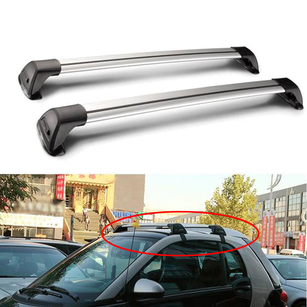 High Quality Roof Luggage Rack Cargo Luggage Carrier Cross Bar For Mercedes Benz Smart Universal Car Styling Car Accessories