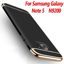 Full Cover 3 in 1 Hard PC shell for Samsung galaxy note 5 Case For Note N9200 Cell Phone Luxury New