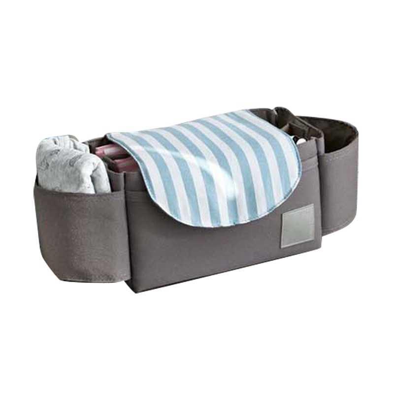 กระเป๋ารถเข็นเด็กทารกทารกนมขวด Mummy แขวนตะกร้าขนาดใหญ่ความจุเดินทางกระเป๋าผ้าอ้อม