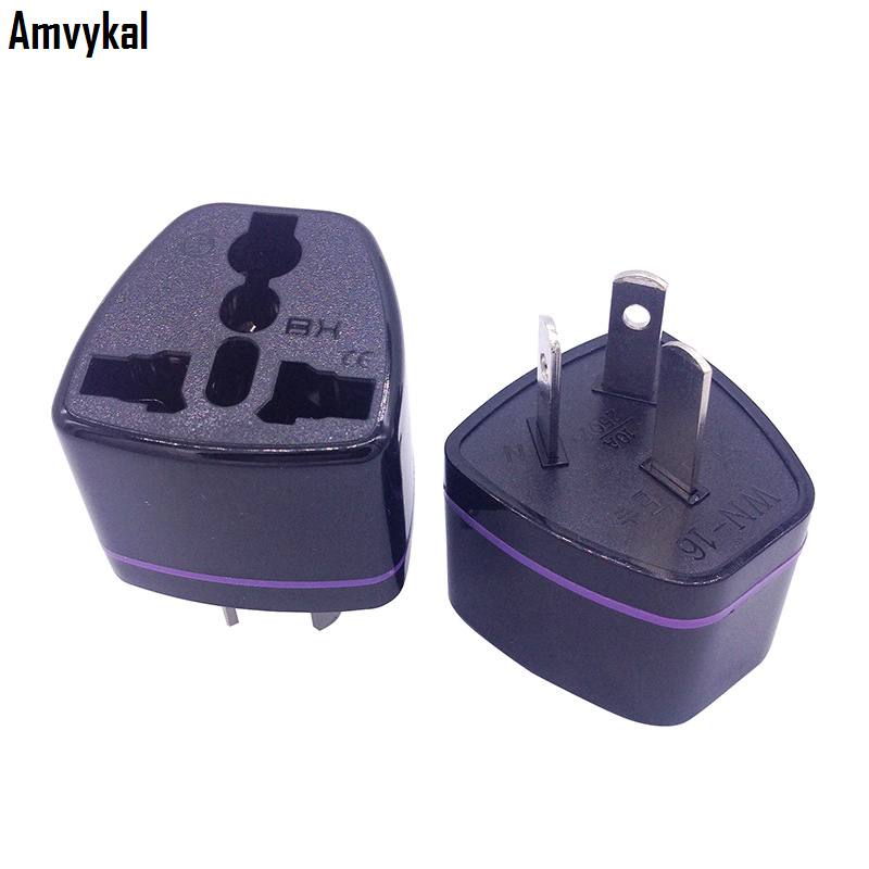Amvykal CE Universal Australia US UK EU To AU Plug Adapter Converter AU Travel AC Power Electrical Plug Adaptor Socket 100 Pcs