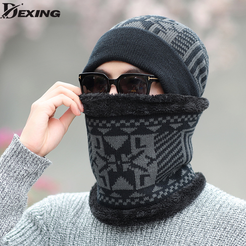 Winter Hats Skullies Beanies Hat Winter Beanies For Men Women Wool Scarf Caps Balaclava Mask Gorras Bonnet Knitted Hat skullies