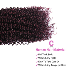 Kinky Curly Ombre Bundles With Closure Grape Purple Brazilian Hair 3 Bundles With Closure Red Burgundy Bundles  Non Remy