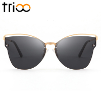 e9043d9d2fdf5b TRIOO Hollow Style Female Sunglasses UV400 Protection Black Sun Glasses  Women Metal Gold Frame Oculos De. TRIOO Oco Feminino Estilo Óculos de Sol  ...