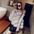 Новый 2016-меховой плащ куртки с длинными рукавами утолщение женский лисий мех жилет