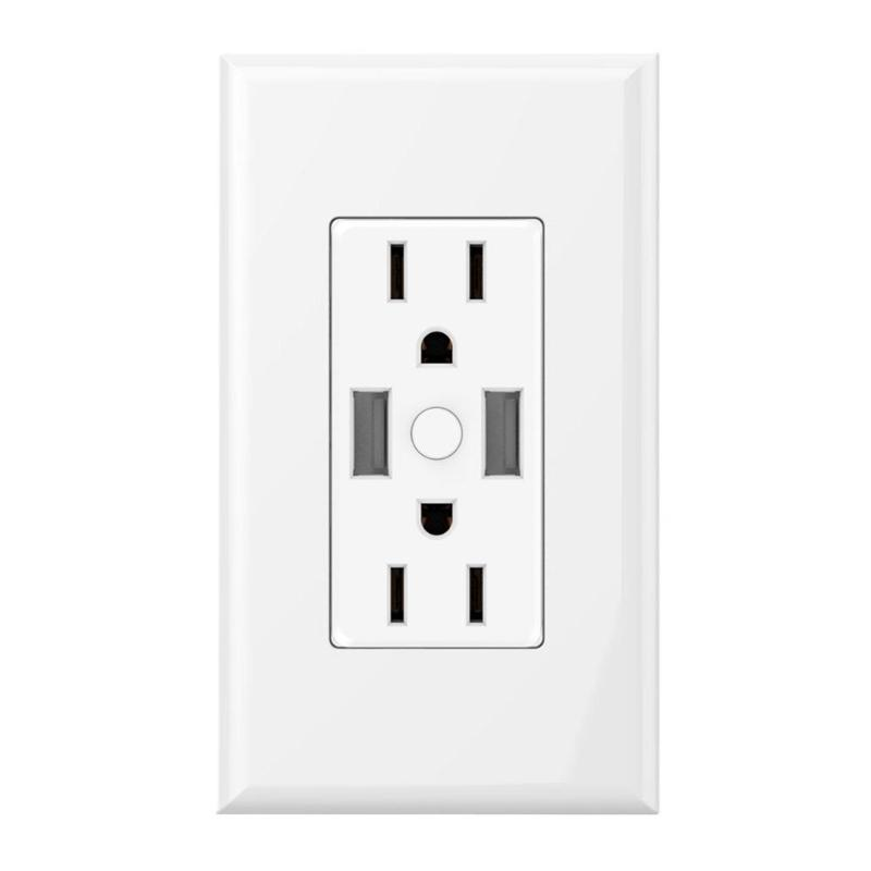 Smart WiFi Wall Timing Socket Outlet Wireless Light Switch Plate Socket Timing Works for Amazon Alexa Google App Home US Plug