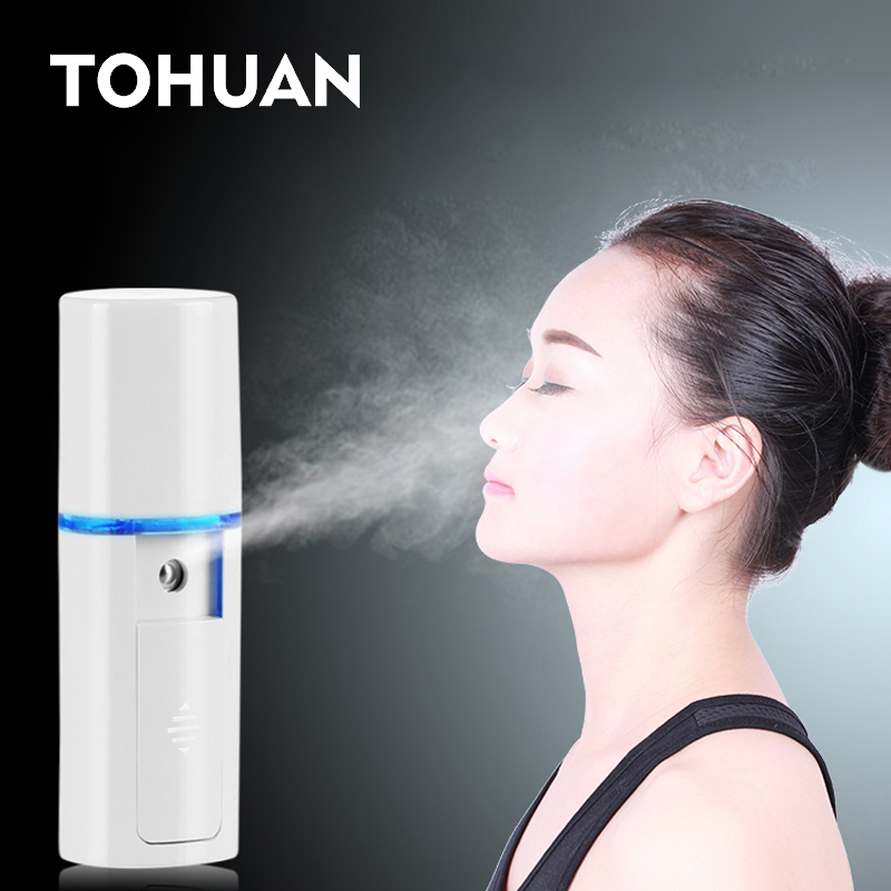 Mini Face Steamer Nano Mister USB Rechargeable Facial Sprayer Beauty Sauna Hydrating Portable Ultrasonic Humidifier Skin