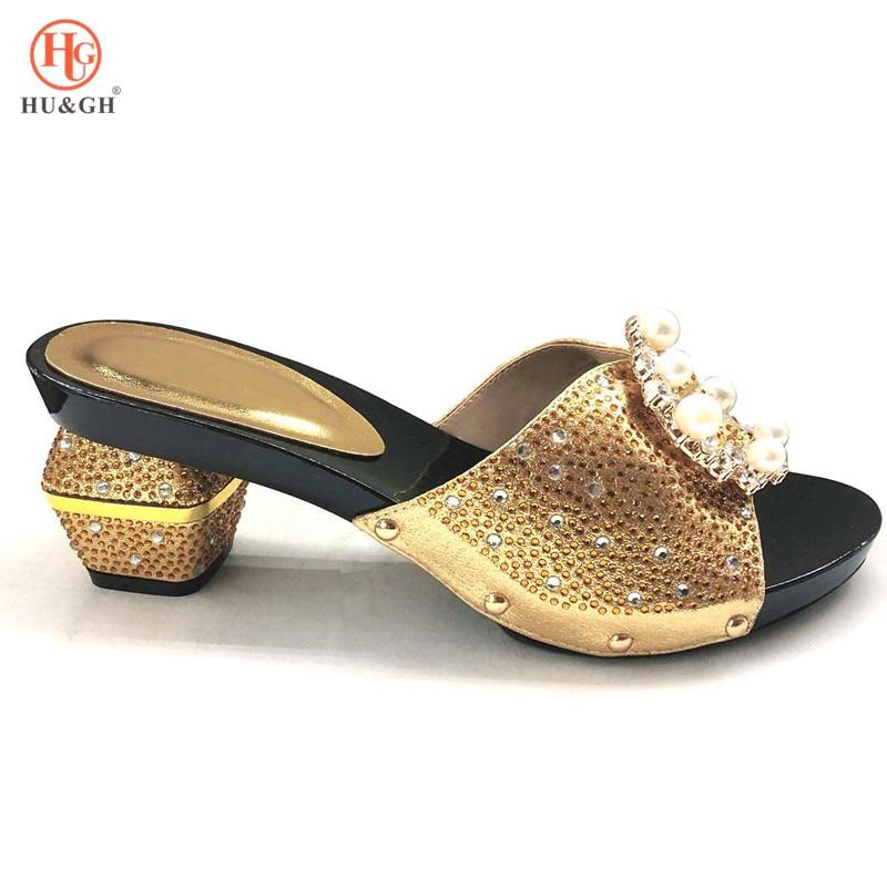 2018 nouvelle couleur or dame italienne Sexy talons hauts pompes robe de mariée talons hauts Design italien sandales africaines chaussures pour la fête