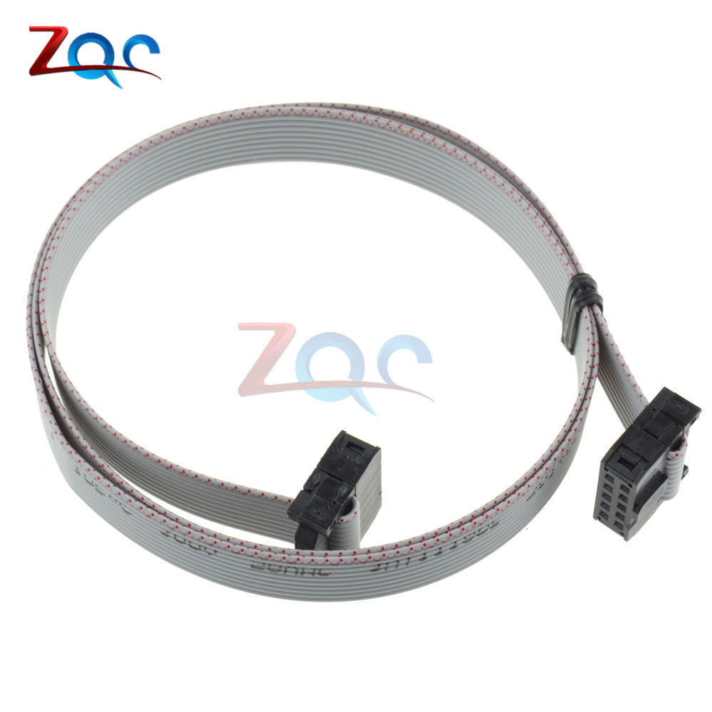 70CM <font><b>10</b></font> <font><b>Pin</b></font> USB ASP ISP JTAG AVR wire 10P IDC <font><b>Flat</b></font> Ribbon DATA <font><b>Cable</b></font> 2.54mm Connector image