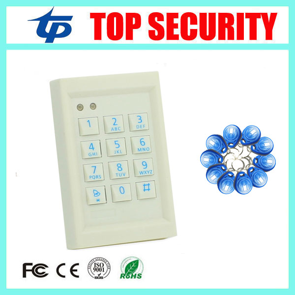 Good looking MINI single door access controller 125KHZ EM card RFID card access control system door control reader with keypad surface waterproof metal key access control card reader standalone 8000 users single door 125khz rfid em card access controller