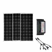 Kit di Energia solare Pannelli Solari 300 W 36 V Pannello Fotovoltaico 12 v 100 W 3 Pz Regolatore di Carica Solare 12 v/24 v 30A Mortorhome Auto