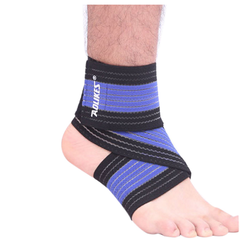Able Aolikes Elastic Sports Ankle Support Brace Wrap Bandage Foot Pain Relief Black+blue Fragrant Aroma