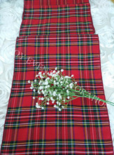 12pcs YHR#52 chrismas plaid  table runner for any events decoration, customized size available