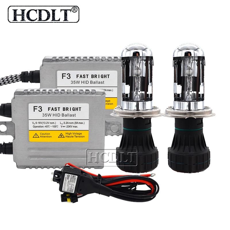 HCDLT AC 12 V 35 W Cnlight H4 Bixenon kit hid H4-3 4300 K 5000 K 6000 K Salut/Lo faisceau Ampoule 35 W Réacteur DLT F3 Ballast H4 kit xénon hid