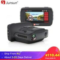 Junsun Car DVR Camera Radar Detector GPS 3 In 1 For Russian Ambarella A7 Anti Radar