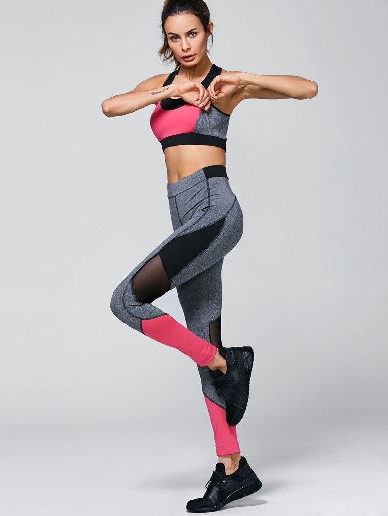 Women s yoga sets sport suit workout clothes female fitness sports - Women Yoga Sets Bra Pants Fitness Workout Sports Running Girls Slim Yoga Pants Leggings