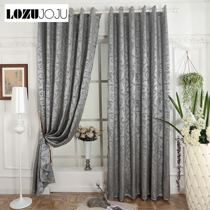 Geometric Jacquard Modern Curtains Simple Design Living: LOZUJOJU Free Shipping Jacquard Curtain For Living Room
