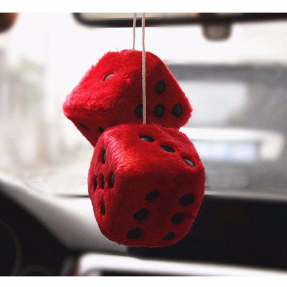 Автомобильные украшения-игральные кости разноцветная милая плюшевая игральная кость клейкий диск зеркало автомобиля Haning подвеска Украшение автомобиля брелок украшения