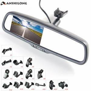 "ANSHILONG 4.3 ""car monitor TFT LCD rear view mirror video input 2Ch with a mounting"