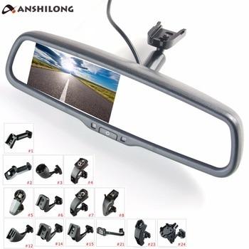 "Anshilong 4.3 ""Tft Lcd Achteruitkijkspiegel Car Monitor Video-ingang 2Ch Met Een Speciale Montagebeugel"