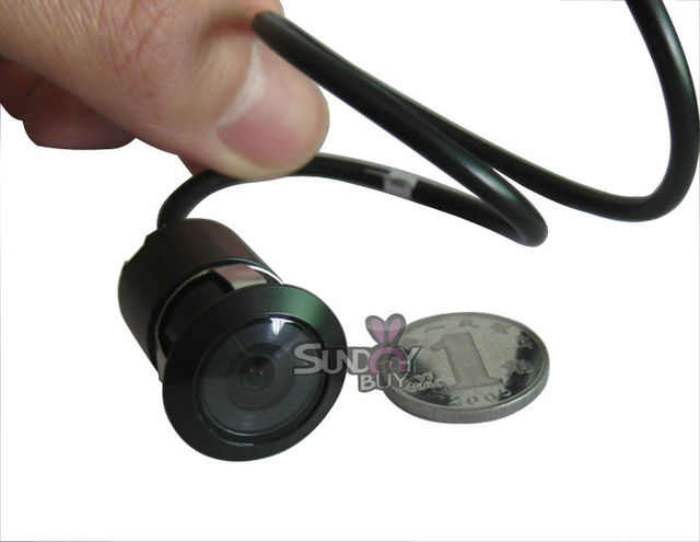 Smallest Backup camera Hole hide installation Car CCD rear Camera Waterproof Night vision Free Shipping