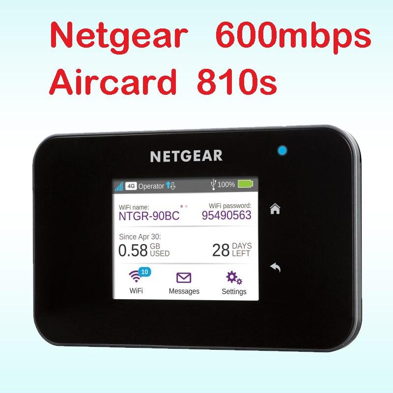 Débloqué Aircard 810 S cat11 600 mbps 4g routeur avec fente pour carte sim wi-fi 4g lte routeur extérieur mifi pocket netgear ac810s ac810
