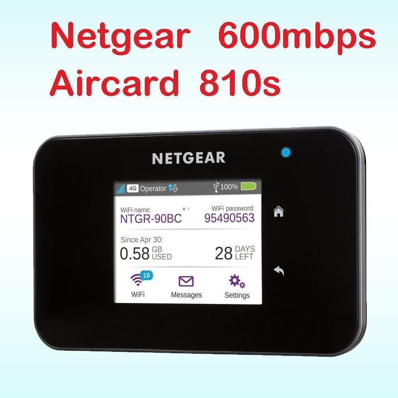 Sbloccato Aircard 810 s cat11 600 mbps 4g router con slot per sim card wi-fi 4g lte router outdoor mifi tasca netgear ac810s ac810