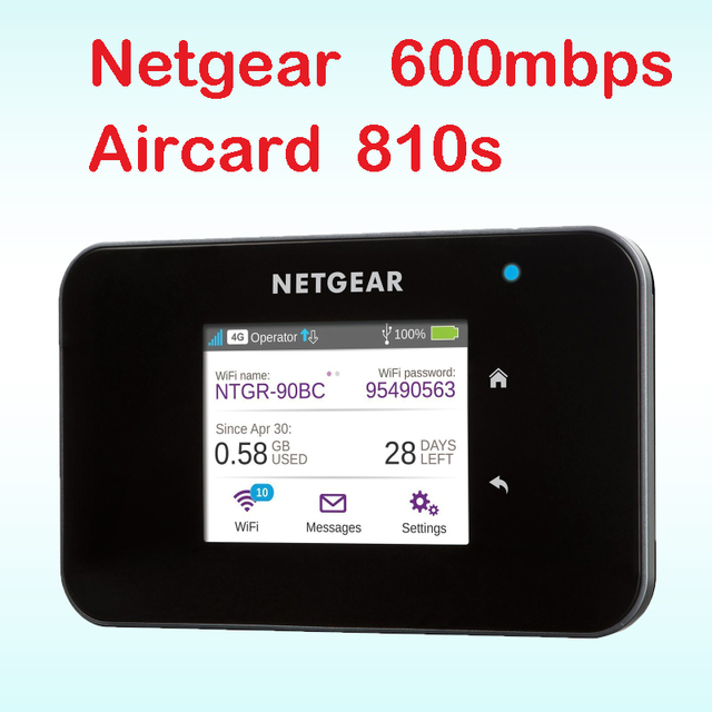 unlocked Aircard 810S cat11 600mbps 4g router with sim card slot wi-fi 4g lte router outdoor mifi pocket netgear ac810s ac810