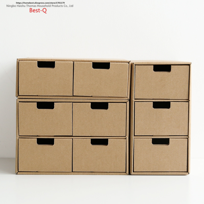 Free Shipping Kraft Paper Desktop Storage Box, Office Student Sorting Box,  Free Combination, Multi Layer Drawer Storage Box In Storage Boxes U0026 Bins  From ...
