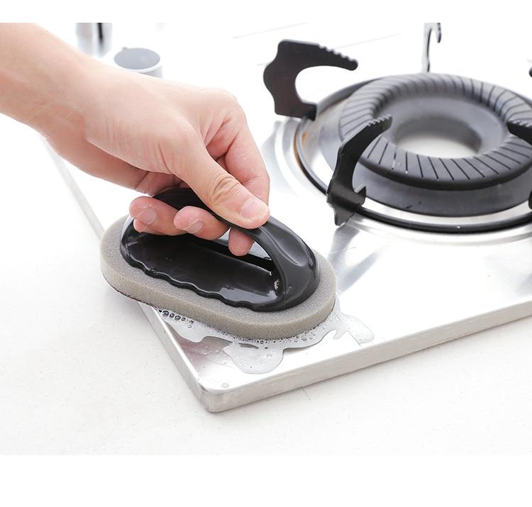 ENNKE 1PC Cleaning Brush Sponge Brush Bath Tiles Brush Multifunction Wash Pot Clean Brush Sponge Kitchen Accessories