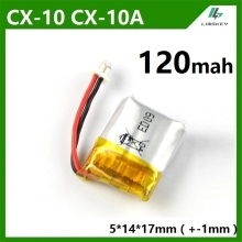 1pcs 1S 3.7V 120mAh Lipo Battery For Cheerson CX10 CX-10 CX-10A RC Quadcopter Spare Parts 3.7 V 120 mAh Li-po Battery Wholesale