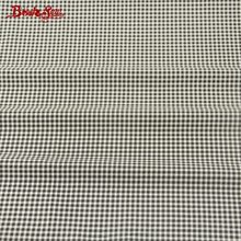 Booksew Fabric Black and White Checks Patterns 100% Cotton Soft Material DIY For Quilting Textile Baby Cloth Curtain Tecido(China)