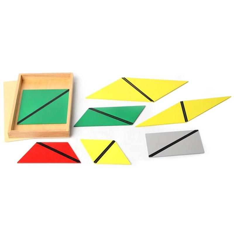 Bébé jouet Montessori Triangles constructifs avec 5 boîtes pour l'éducation de la petite enfance formation préscolaire jouets d'apprentissage - 4