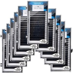 Image 1 - 卸売個人シルクラッシュミックス長まつげ延長ミンクつけまつげソフト黒 16 行 Microblading メイクツール