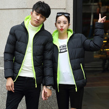 2017 new  plus size Men and Women Classic Hooded Cotton Coat Homme Winter Thick Windproof Hoodie Parkas Warm Outwear Clothing