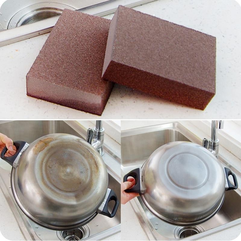 Emery magic magic sponge sponge rust, scale removal, cleaning sponge, stubborn stains, coke stains, magic wipes.