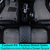 SUNNYFOX car floor mats made for Hyundai Santa Fe 5D perfect fit anti skid case heavy duty car styling carpet rugs liners (2007