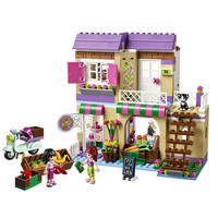 389Pcs Girl Friend Series Food Market Model Building Kits Minifigures Blocks Bricks Enlighten Toy For Children