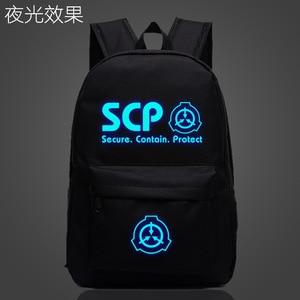 Image 1 - SCP Secure Contain Mochila escolar protectora, luminosa, nocturna, bolso para estudiante, Notebook, Mochila de uso diario, Mochila que brilla en la oscuridad