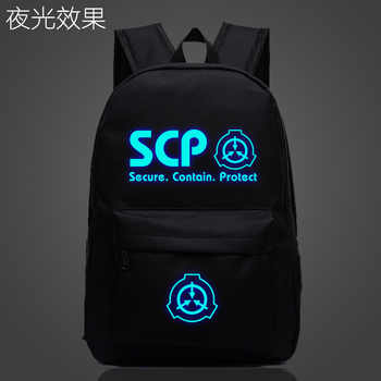 SCP Secure Contain Protect School Bag noctilucous Luminous backpack student bag Notebook Daily backpack Glow in the Dark Mochila - DISCOUNT ITEM  5 OFF Luggage & Bags